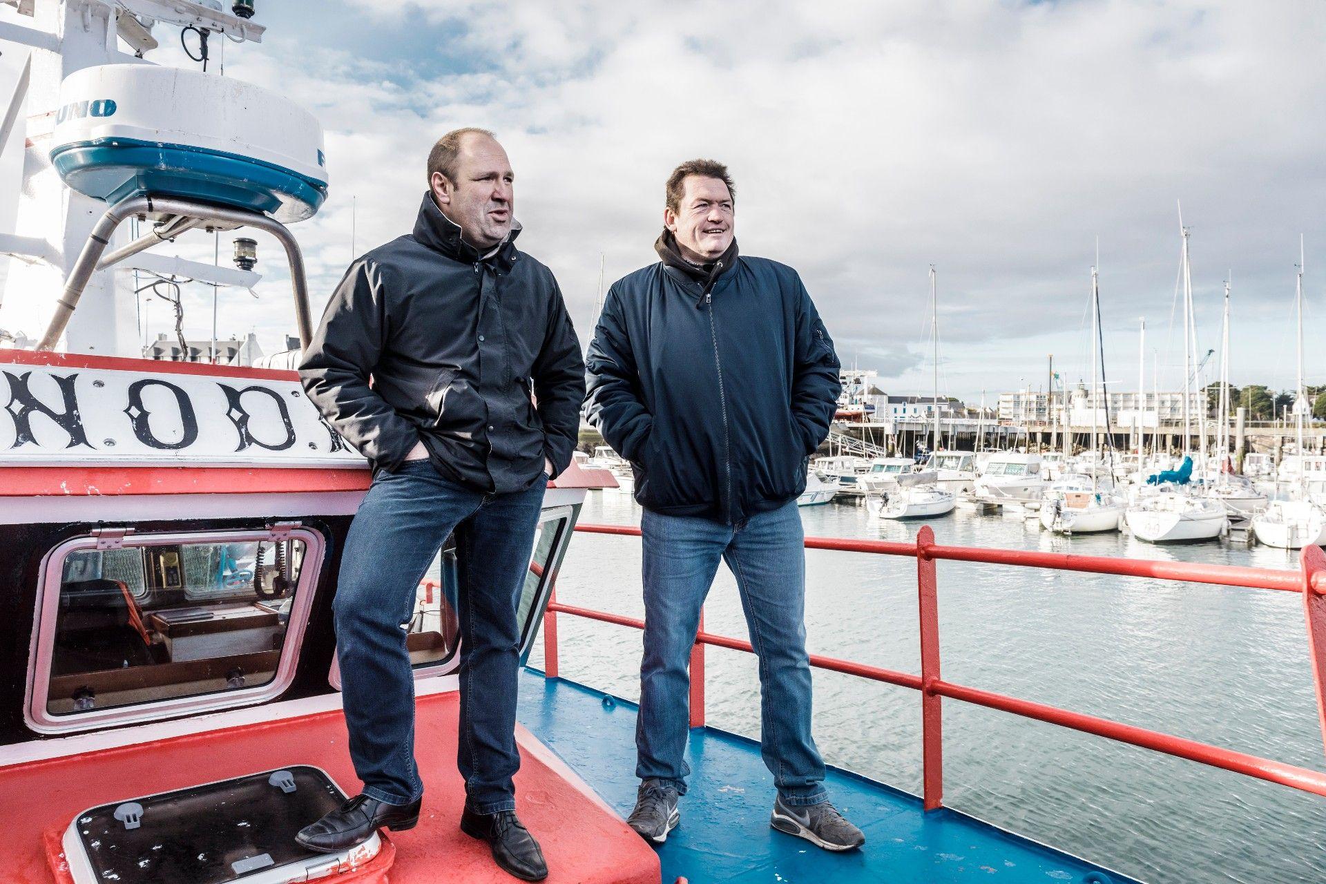 Stéphane Gervier (patron-pêcheur à Quiberon) & Franck Duchateau (conseiller du Crédit Maritime à l'agence de Quiberon)