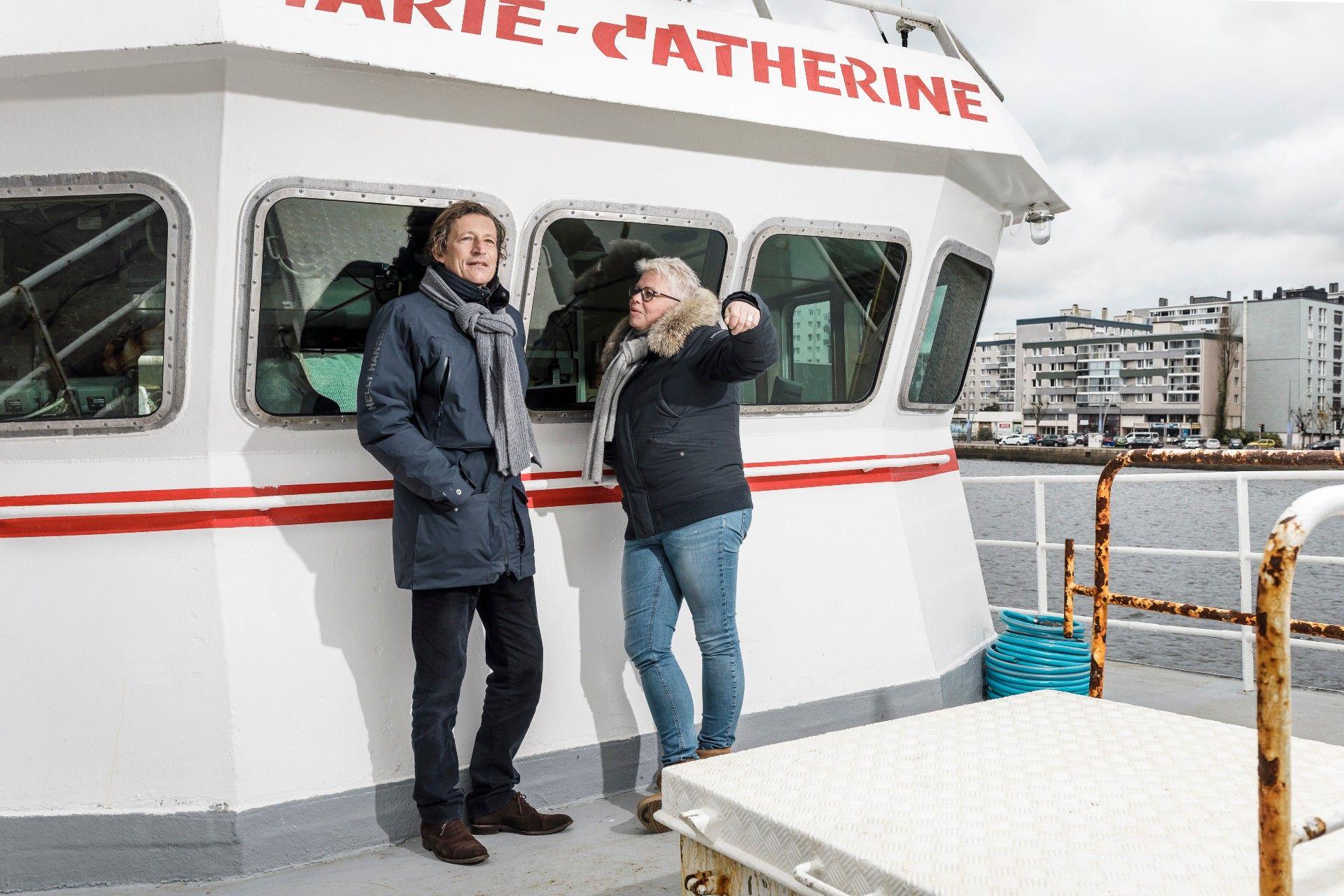 M. et Mme Leroy (PDG d'Armement Cherbourgeois